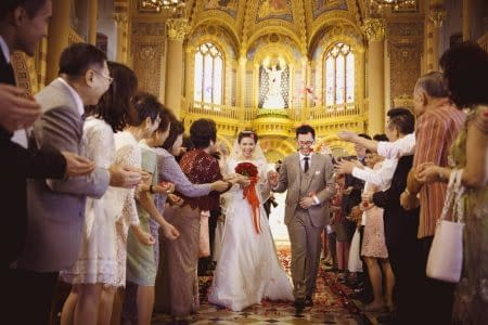 Wedding at Assumption Cathedral Bangkok