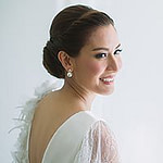 Portrait of the bride at Oriental Residence Bangkok