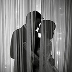 Bride and Groom look each other at Park Nai Lert Heritage Home
